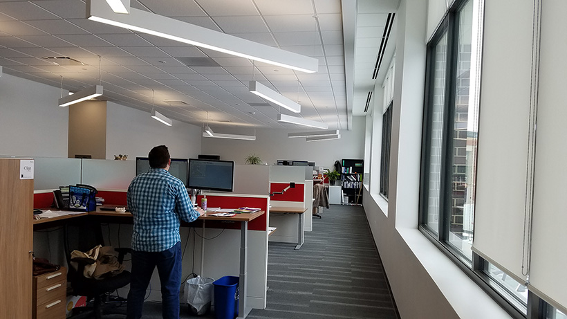 Photograph of the office spaces of JEO Consulting Group in Ankeny Iowa