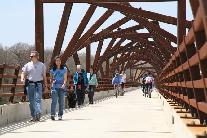 High Trestle Trail Bridge on the High Trestle Trail in Ankeny, Iowa